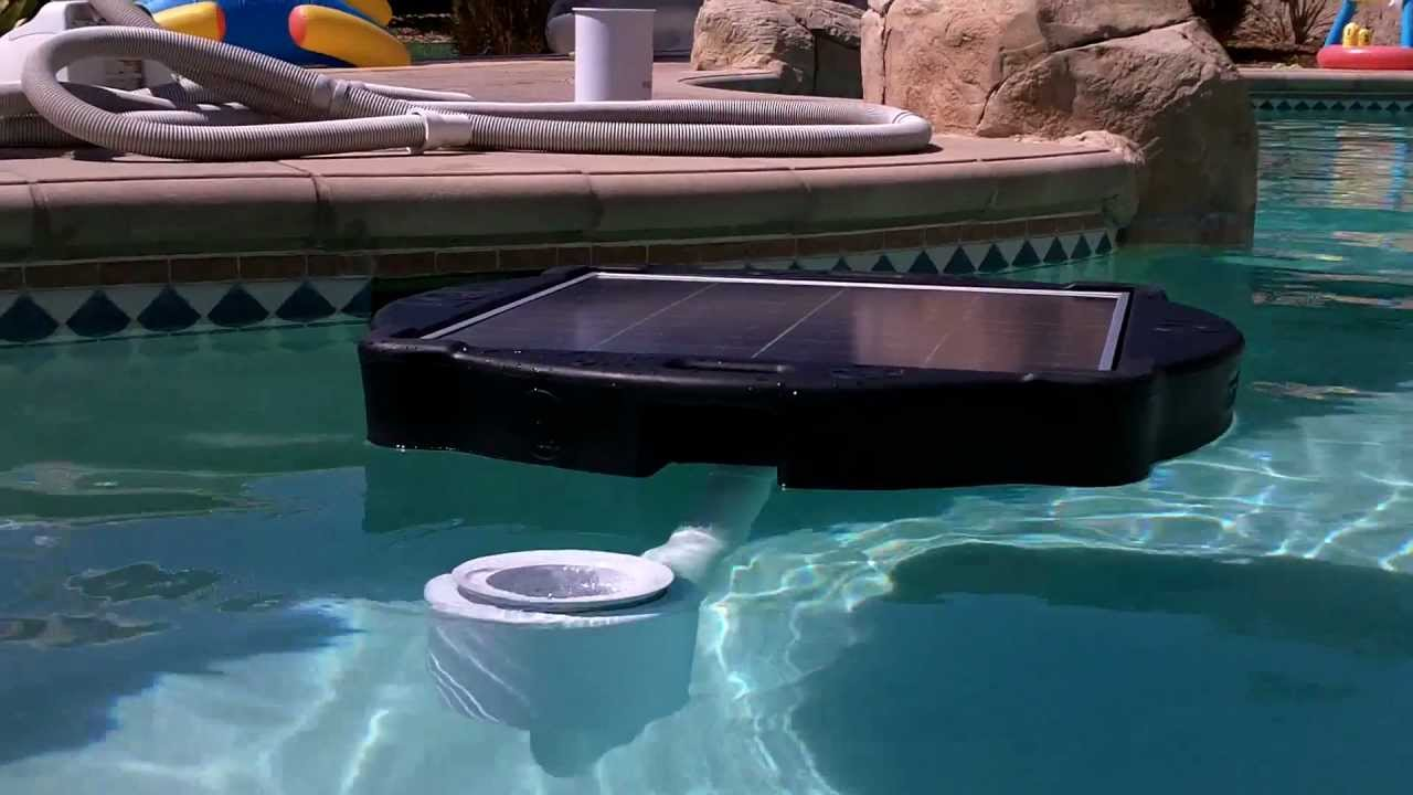 Solar Pool And Pond Skimmer Power Youtube