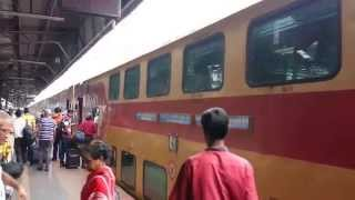 Double Decker Train India Exterior and Interior HD video