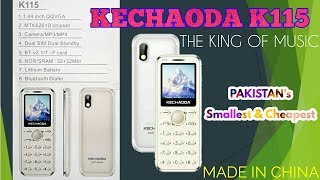 KECHAODA K115 THE KING OF MUSIC Card Phone Review & Unboxing 2018