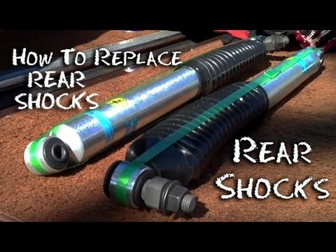 ✇ How To Replace Rear Shocks - GMC Truck Replace Install Shock Absorbers - Half Idiots Guide