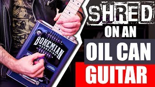 SHRED ON A BOHEMIAN OIL CAN GUITAR -  Rising Force (Yngwie Malmsteen) guitar cover solo