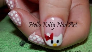 Tutorial: Diseño de Uñas de Hello Kitty Paso a Paso - Hello Kitty Nail Art