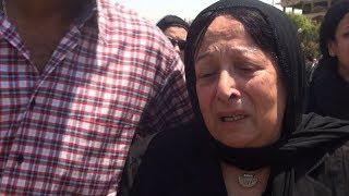 انهيار سميرة عبدالعزيز أثناء تشييع جثمان زوجها محفوظ عبدالرحمن