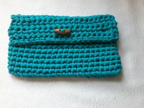 Летняя сумка крючком из трикотажной пряжи