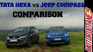 Tata Hexa vs Jeep Compass Comparison - Hinglish