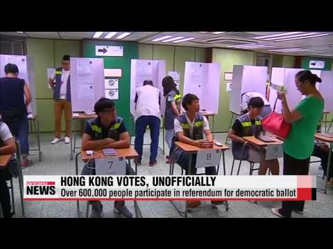 Over 600,000 vote in Hong Kong democracy poll