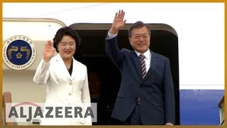 🇰🇷 🇺🇸 S Korean president arrives in US amid fears for Kim-Trump summit | Al Jazeera English