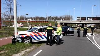 Aanhouding autodief op de A4 gaat fout bij afrit Sloten.