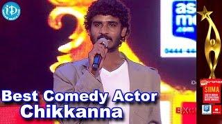 SIIMA 2014 Best Comedian Award | Chikkanna | Raja Huli Movie