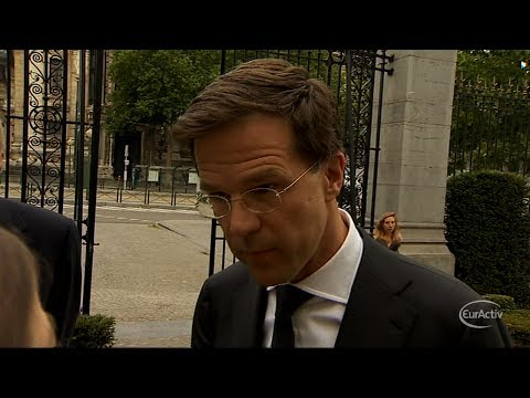 Dutch PM Mark Rutte: We will back Juncker
