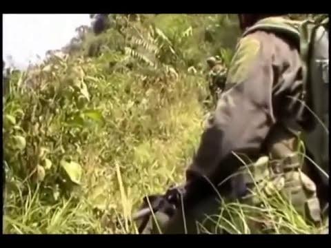 artillero apoyando combates en Colombia