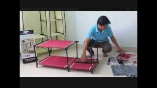 Hướng dẫn lắp ráp tủ vải Thanh Long TVAI01 - Kích thước: (100 x 46 x 175) cm