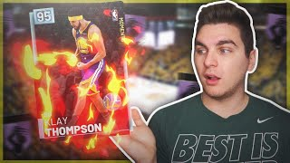 DIAMOND KLAY THOMPSON BEST CARD IN NBA 2K19! DROPS 40+ WITH EASE!
