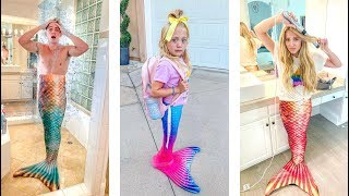 Everleigh's 1st Grade School Morning Routine AS A MERMAID!!! - Challenge