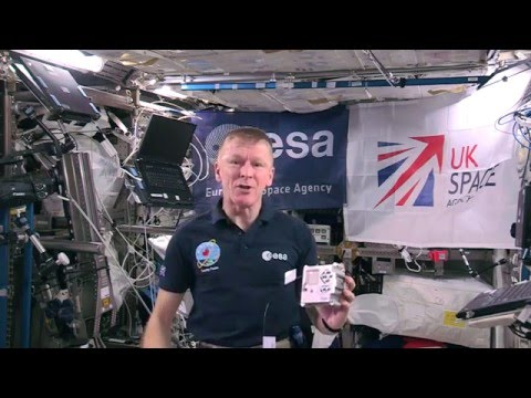 Tim Peake with Astro Pi on the International Space Station