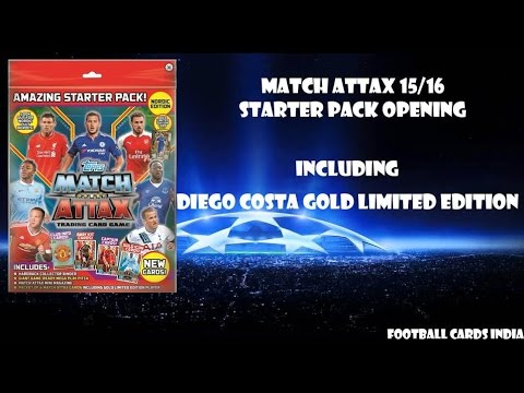Opening and Reviewing Match Attax 2015/16 Starter Pack- INDIA PREMIERE