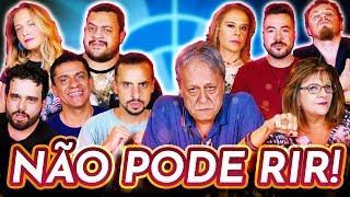 NÃO PODE RIR! com DUBLADORES CHAVES (Nelson Machado, Cecília Lemes, Marta V., Daniel M., Gustavo B.)