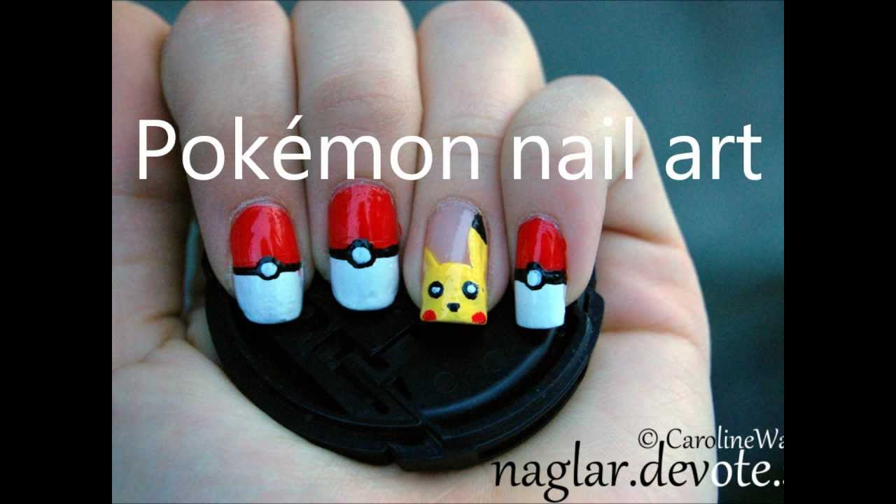 Pikachu Acrylic Nails Pokémon Nail Art Pikachu And