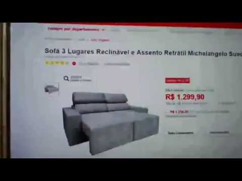 Assento videolike for Sofa 5 lugares assento retratil e encosto reclinavel