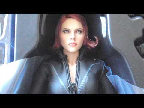 Hot Toys Avengers 1/6 Scale Black Widow SideshowCollectibles.com Order Unboxing