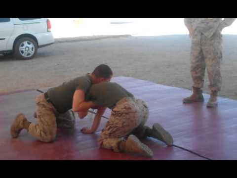 Female Corpsman VS Marine SGT in MCMAP Image 1