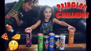 PRINGLES CHALLENGE! Potato chip taste test - kids try weird flavors