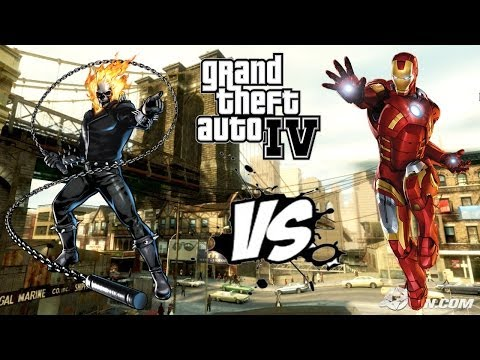GHOST RIDER VS IRON MAN | EPIC BATTLE | GRAND THEFT AUTO 4