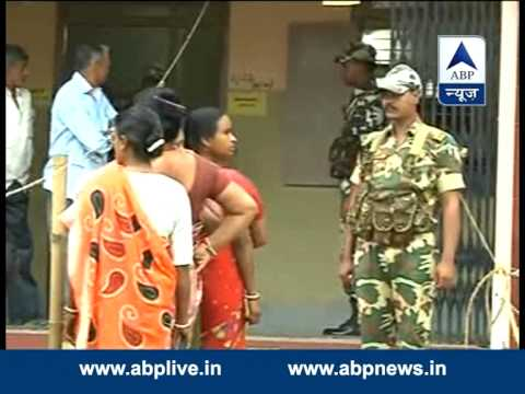 Voters line up for first phase of LS elections in Agartala, Tripura