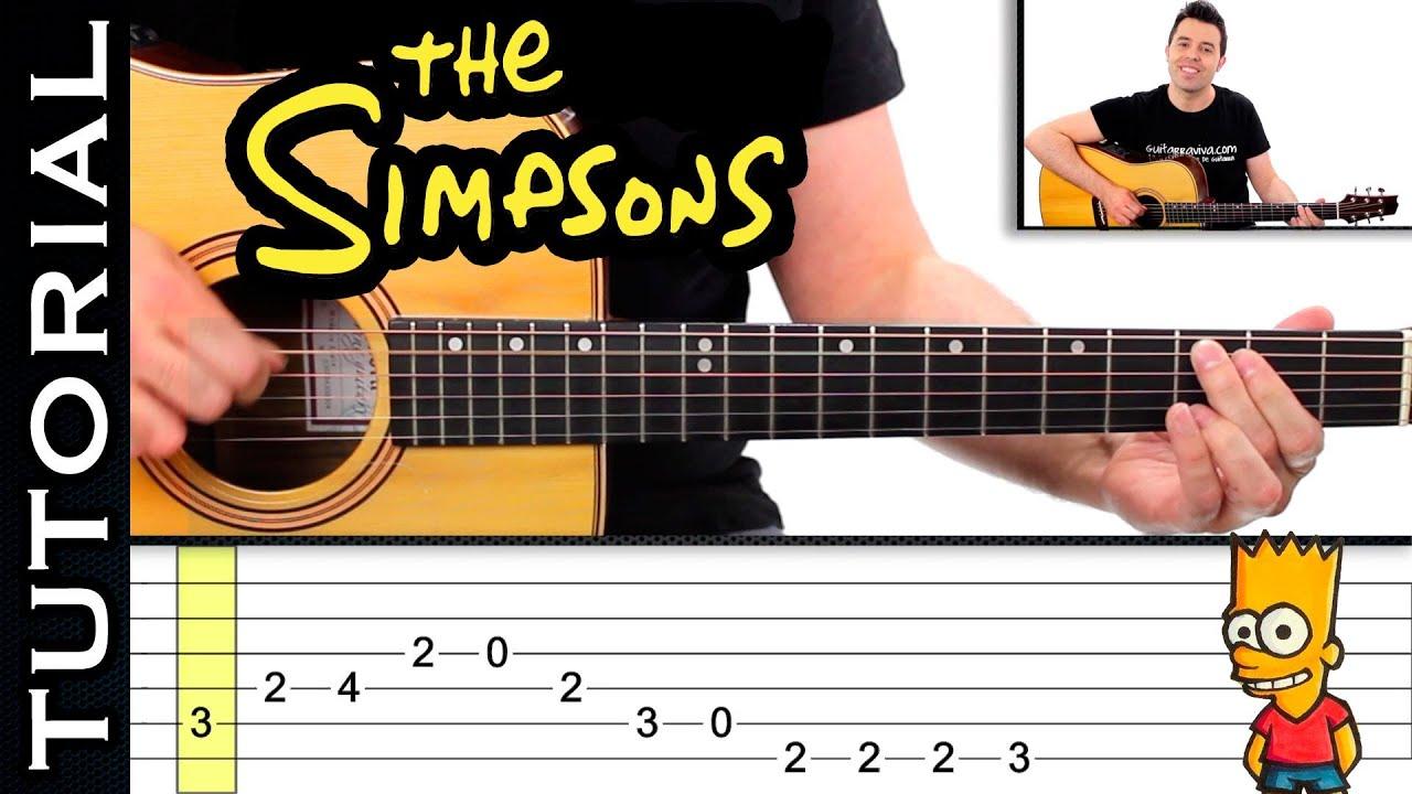 Como Tocar LOS SIMPSONS En Guitarra FACIL Principiantes Y Novatos