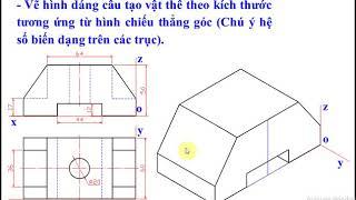 Cách vẽ hình chiếu trục đo chi tiết (How to draw detailed axes projection)
