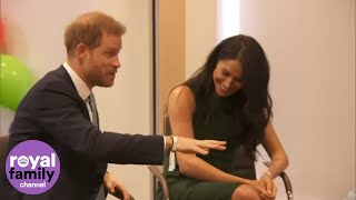 The Duke and Duchess of Sussex meet the winners ahead of the WellChild awards