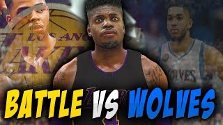 NBA 2K17 Los Angeles Lakers MyGM - Lakers BATTLES Timberwolves!