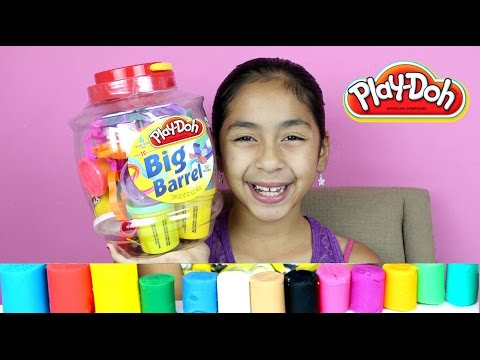 TUESDAY PLAY DOH BIG BARREL ZOO FARM AND SEA ANIMALS| B2cutecupcakes