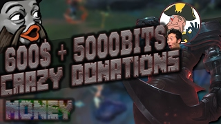 Tobias Fate - 600$ + 5000BITS DONATIONS!   Tobias Fate Full Game Highlights
