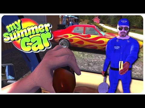 My Summer Car - Stealing Muscle Cars + F*** Tha Police | Funny Moments Gameplay Part 3