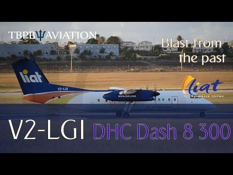 Liat Dash 8 311 V2 LGI Departing Barbados