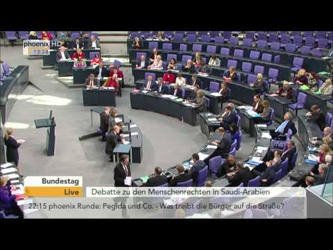Bundestag: Menschenrechte in Saudi-Arabien am 29.01.2015