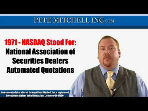What Does NASDAQ Stand For?