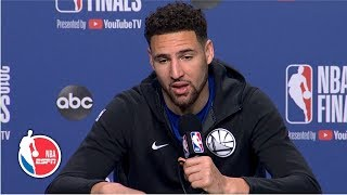 Klay Thompson 'thankful to share the backcourt' with Steph Curry | 2019 NBA Finals