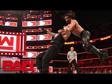 Roman Reigns vs. Seth Rollins - Seven-Man Gauntlet Match Part 1: Raw, Feb. 19, 2018 thumbnail