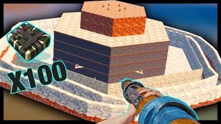 RAIDING the BIGGEST CLAN BASE on the SERVER with 100 C4!
