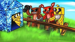 CHALLENGE OF BASE VS ANIMATRONICS FIVE NIGHTS AT FREDDY´S IN MINECRAF T (FNAF) 😱🐻 WILL WE SURVIVE?