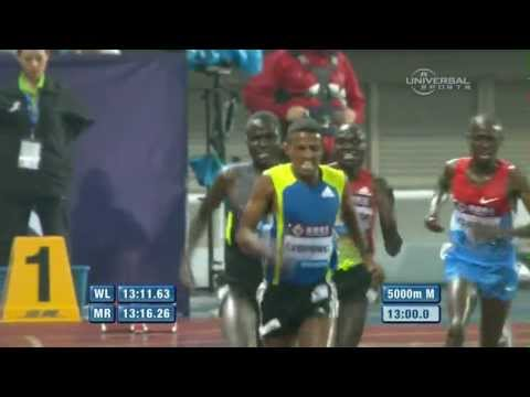 Kenenisa Bekele finishes 5th, Hagos Gebrhiwet wins 5000m - Shanghai Diamond League 2012