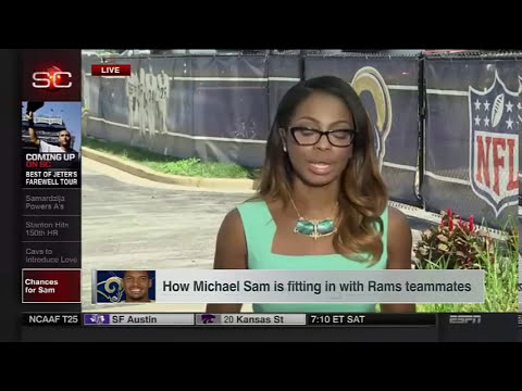 ESPN reports on Michael Sam's showering habits in Rams camp