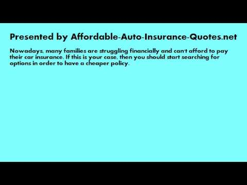 Affordable Auto Insurance - Tip #21