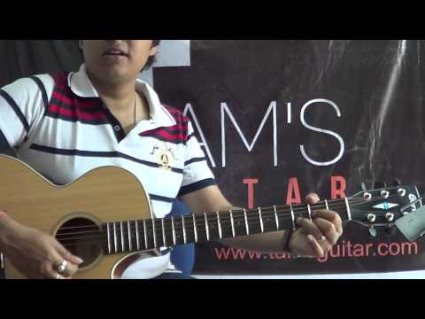 Guitar Lesson:4 Hindi Songs Simplified Medley Using 4 Basic Chords Lesson (tamsguitar) video