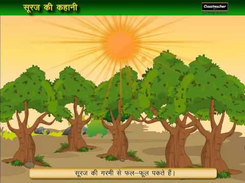 """Suraj Ki Garmi"" Planets (Solar System) Song | 3D Hindi Nursery Rhymes (Video) for Children Lyrics"