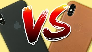 Which Is The BEST Case For You?! - Apple Silicone Case VS. Apple Leather Case for iPhone X