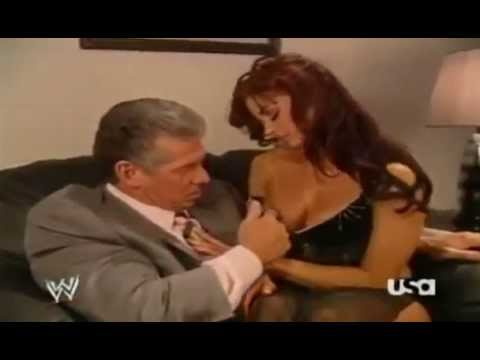 Vince Mcmahon and Candice Michelle Making Out Backstage thumbnail