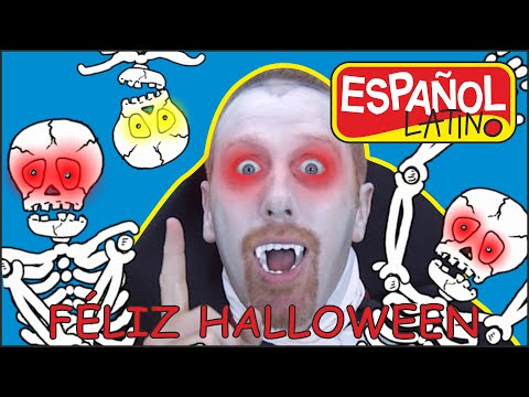 Canciones de Halloween con Steve and Maggie Español Latino | Feliz Halloween |Aprende Español Latino